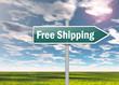 "Signpost ""Free Shipping"""