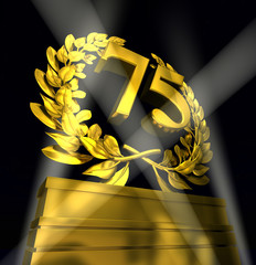 75 number laurel wreath