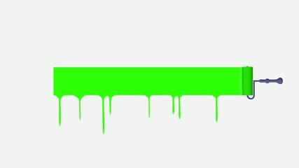 Paint roller. Green