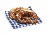 pretzels on a napkin