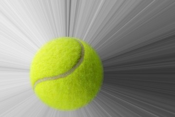 Tennis ball and speed