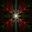 Fractal flame background. Design element. Colorful flowers.