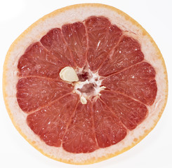 Grapefruit on white