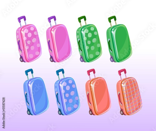 Suitcases illustration vector