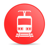train red circle web glossy icon