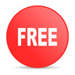free red circle web glossy icon