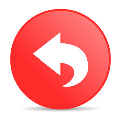 back red circle web glossy icon