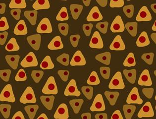 Orange seamless pattern Hand drawn stylish abstract background