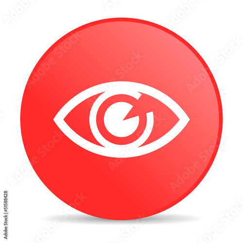 eye red circle web glossy icon
