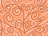 Orange seamless pattern Hand drawn stylish abstract background
