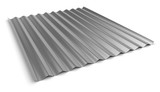 Corrugated sheet of metal