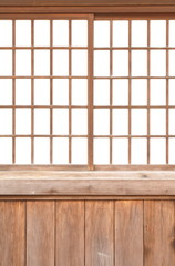 texture of Japanese sliding paper door Shoji