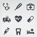 Fototapety Medical icon set