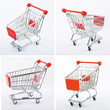 four red shop cart