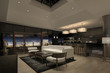 Modern Apartment Interior at Night