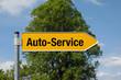 Pfeil mit Baum AUTO-SERVICE