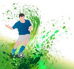 Silhouette et peinture - football