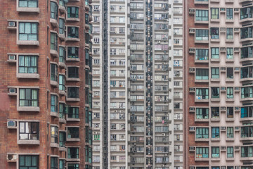 packed tower blocks in Hong Kong