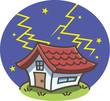 落雷!雷が落ちた家