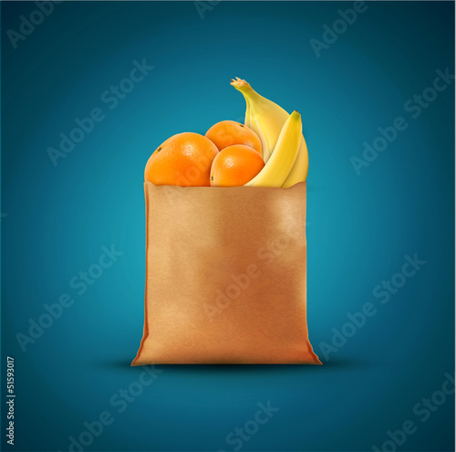 Vector pack with fruit