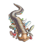 The millipede runs on appointment