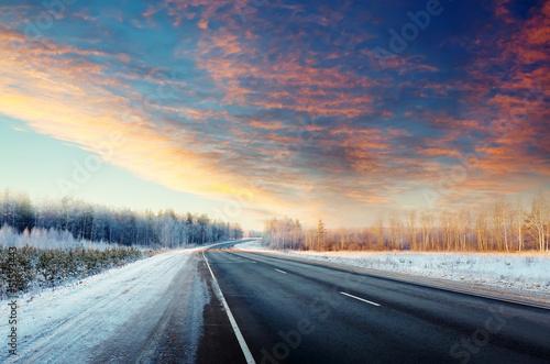 Winter road - 51593443