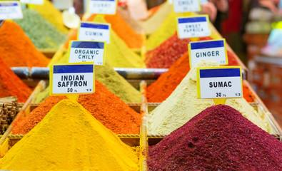 Spices on a Turkish market