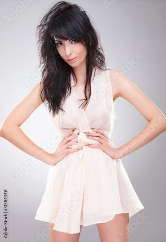 fashion woman hands on waist