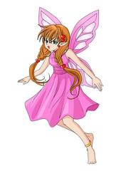 Cartoon illustration of a pixie