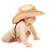 Little boy wearing cowboy hat