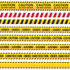 Caution and danger ribbon