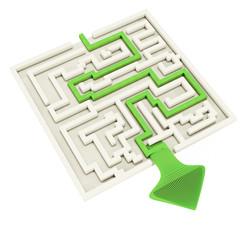 Labyrinth Exit - 3D Render