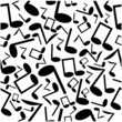 seamless pattern of the notes