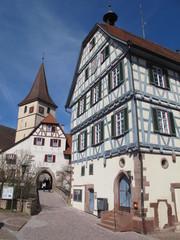 Weil der Stadt-Merklingen, Rathaus und Kirche