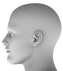 M8 Männerkopf virtuell HiRes raytrayced