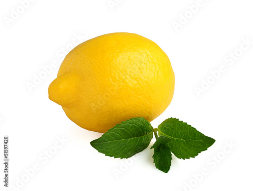 Full lemon with mint