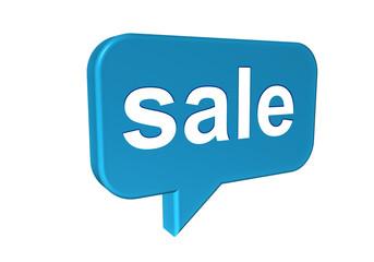 Sprechblase mit Sale - Konzept Verkaufen