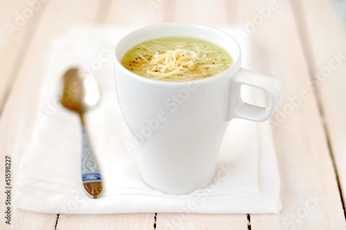 Broccoli, Potato and Cheese Soup
