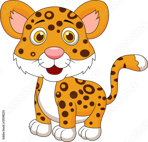 Cute baby jaguar cartoon
