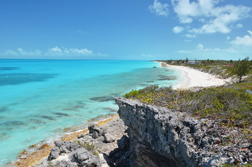 Coast line of Little Exuma, Bahamas
