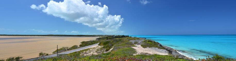 Salt pond. Exuma, Bahamas