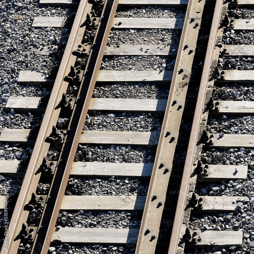 railroad track close-up
