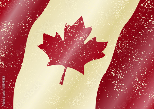 Canadian grunge flag. Grunge effect can be cleaned easily.
