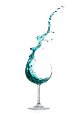 Splash green cocktail