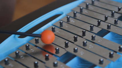 Glockenspiel. Closeup and shallow DOF.