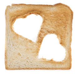 Toast with Hearts