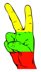 Peace Sign of the Lithuanian flag