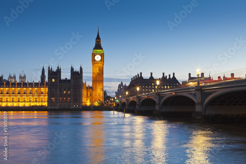 Foto op Aluminium Oude gebouw Houses of Parliament, iconic Big Ben (1834), London, UK