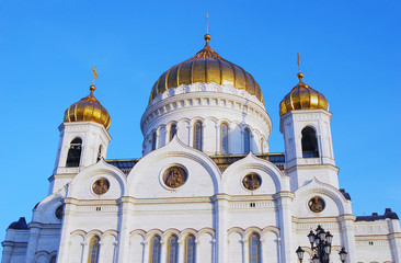 Christ the Savior Church in Moscow, Russia, at dawn.