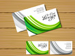 abstract green business card design